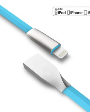 THINK3 ™ High Quality USB 2.4 A Zinc Alloy Quick Charge Cable for iOS Devices Like I-Phone I-PAD I-POD
