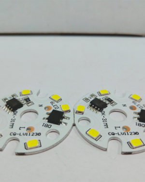 Customized 3W LED PCB Board for bulb light with 31 mm diameter