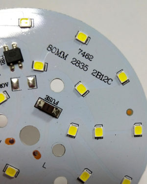 High voltage 80mm 12W LED Round PCB board with 2835 chip