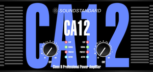 Sound Standard 3400 watt 4-ohm CA 12 Sound-Standard Amplifier, CA12